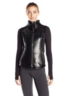 Betsey Johnson Women's Neoprene Hybrid Moto Vest  XS