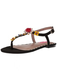 Betsey Johnson Women's NORI Flat Sandal