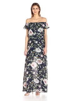 Betsey Johnson Women's Off The Should Floral Maxi Dress