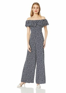Betsey Johnson Women's Off The Shoulder Jumpsuit After