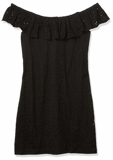 Betsey Johnson Women's Off The Shoulder Lace Dress