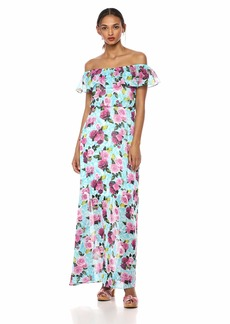Betsey Johnson Women's Off The Shoulder Maxi Dress