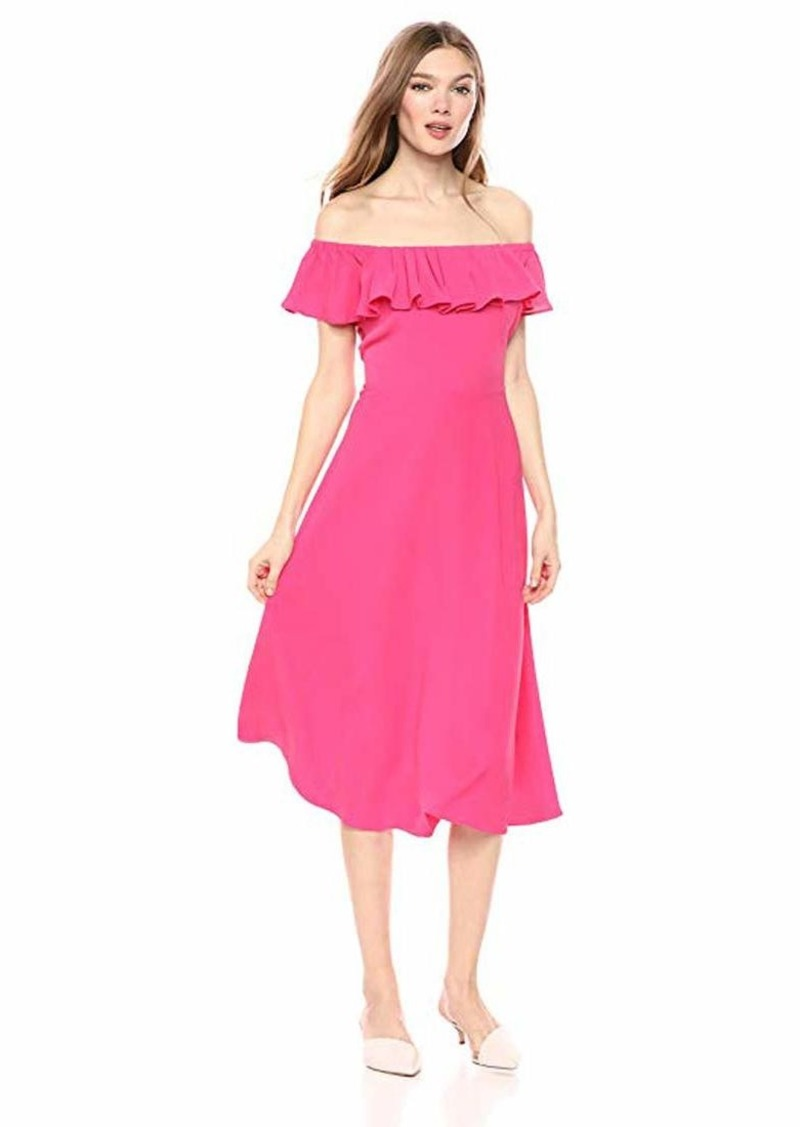 Betsey Johnson Women's Off The Shoulder Midi Dress