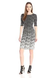 Betsey Johnson Women's Ombre Jacquard Knit Midi Dress