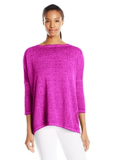 Betsey Johnson Women's Open Back Acid Wash Pullover
