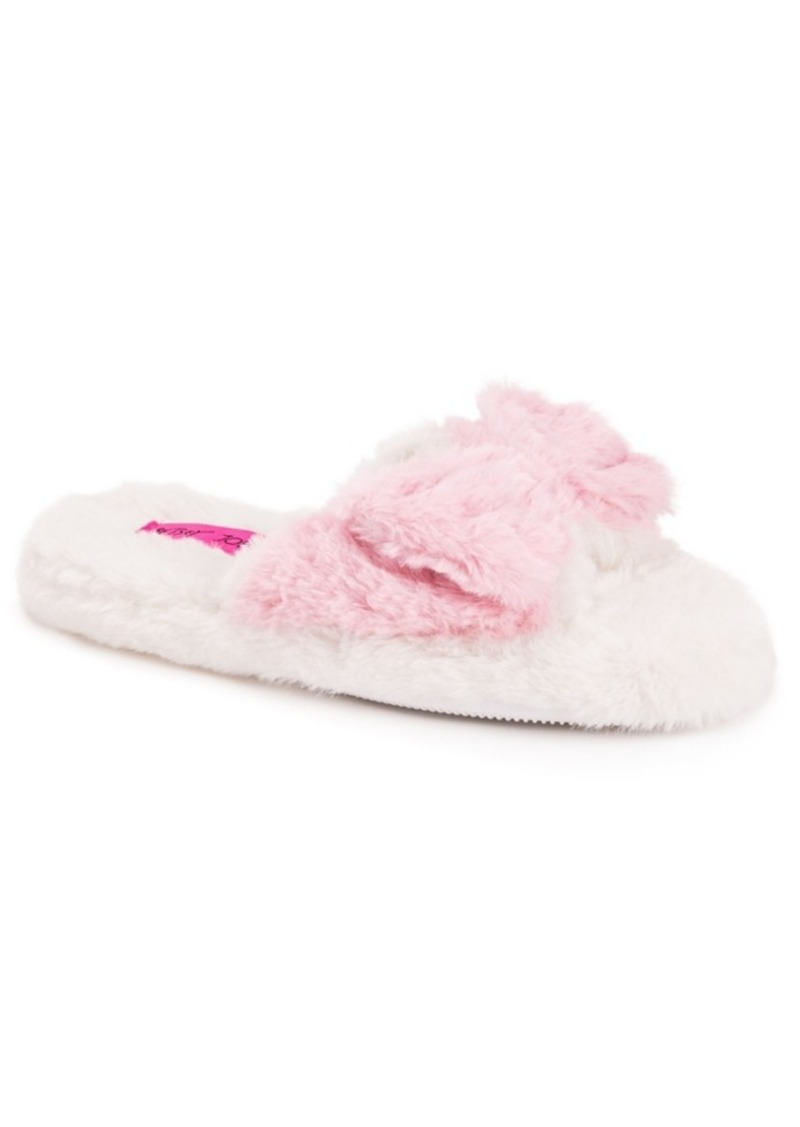 Betsey Johnson Women's Open Toe Scuff Slippers