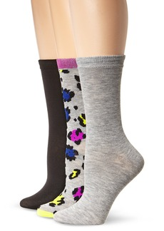 Betsey Johnson Women's Party Animal Crew Socks 3-pack