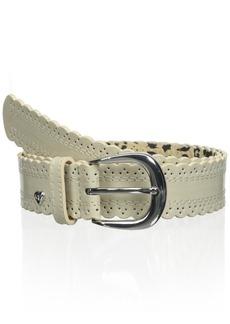 Betsey Johnson Women's Patent Scallopped Pant Belt