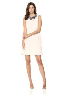 Betsey Johnson Women's Pearl Collar Scuba Crepe Dress