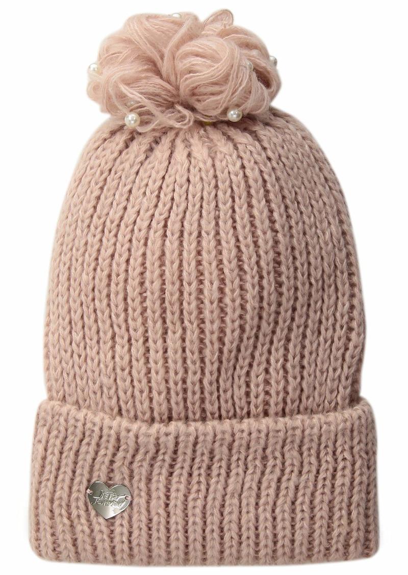 Betsey Johnson Women's Pearl Jam Cuff Hat  ONE Size
