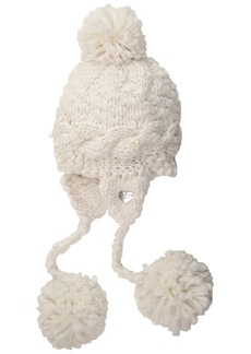 Betsey Johnson Women's PEARLY GIRL EARFLAP HAT Accessory -ivory ONE SIZE