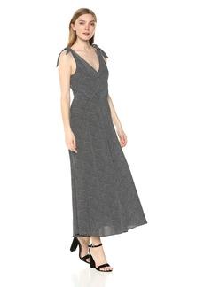 Betsey Johnson Women's Pebble Stripe Crepe Dress Black/Ivory