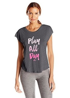 Betsey Johnson Women's Play All Day Acid Wash Wedge Tee