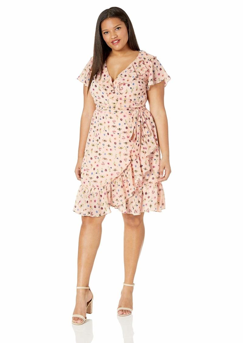Women\'s Plus Size Bug Garden Wrap Dress