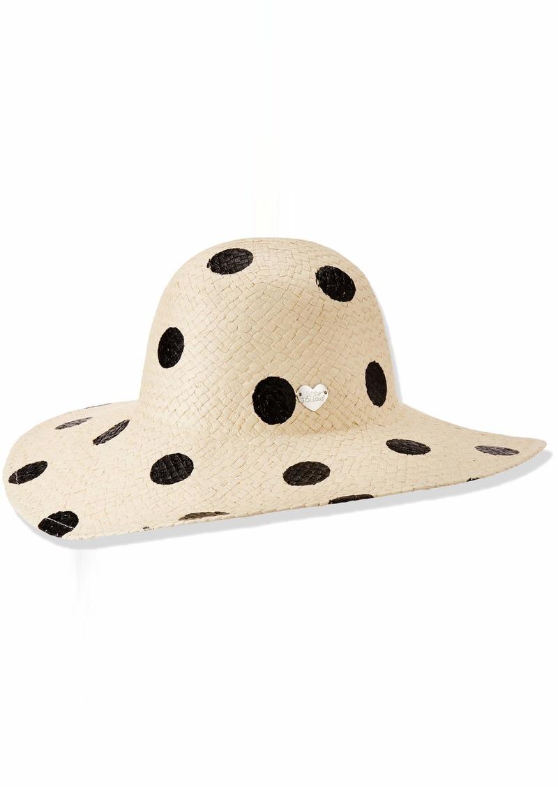Betsey Johnson Women's Polka Dot Floppy Hat