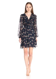 Betsey Johnson Women's Poly Printed Chiffon Dress