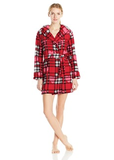 Betsey Johnson Women's Pop Art Plush Robe