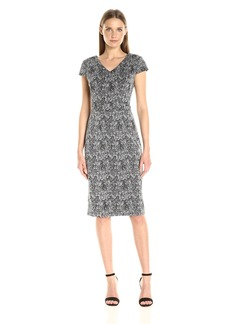 Betsey Johnson Women's Printed Cap Sleeve Sheath Dress
