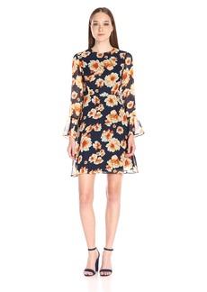 Betsey Johnson Women's Printed Chiffon Dress