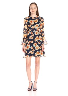 Betsey Johnson Women's Printed Chiffon Dress