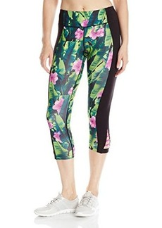 Betsey Johnson Women's Printed Cutout Colorblock Crop Legging