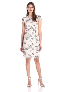 Betsey Johnson Women's Printed Lace Sheath Dress