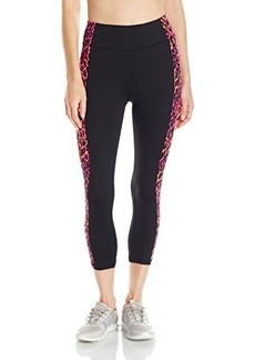 Betsey Johnson Women's Printed Side Panel Crop Legging