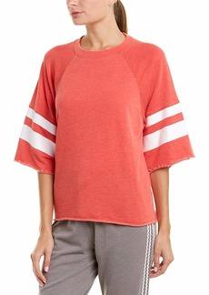 Betsey Johnson Women's Printed Stripe Cutoff Sweatshirt  Extra Small