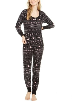 Betsey Johnson Women's Printed Waffle Fleece Pajamas Set