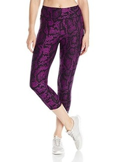 Betsey Johnson Women's Python Printed Crop Legging