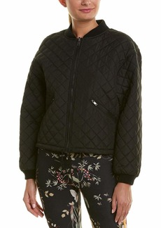 Betsey Johnson Women's QUILTED BOMBER JACKET  LARGE