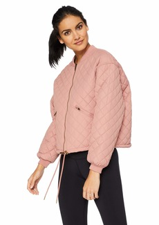 Betsey Johnson Women's QUILTED BOMBER JACKET    MEDIUM