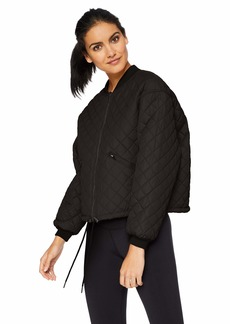 Betsey Johnson Women's QUILTED BOMBER JACKET    SMALL