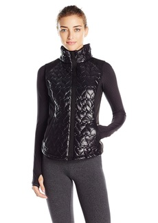 Betsey Johnson Women's Quilted Neoprene Hybrid Vest  L
