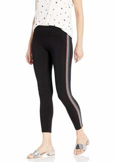 Betsey Johnson Women's Rainbow Sparkle Elastic MID Rise 7/8 Legging