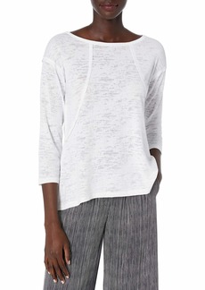 Betsey Johnson Women's Raw Edge Fit and Flare 3/4 Sleeve Tee