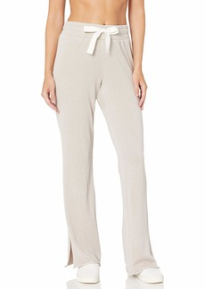 Betsey Johnson Women's Raw Edge Side Slit Twill Tape Pant