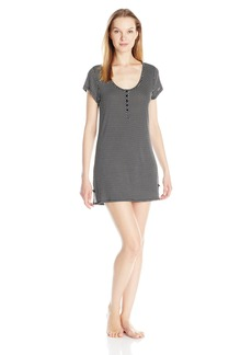 Betsey Johnson Women's Rayon Knit Henley Sleepshirt