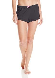 Betsey Johnson Women's Rayon Knit Ruffle Shorts