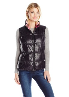 Betsey Johnson Women's Reversible Printed Puffer Vest