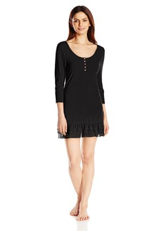 Betsey Johnson Women's Rib Knit Sleepshirt  Small