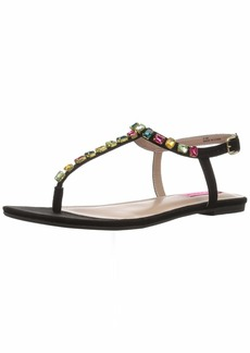 Betsey Johnson Women's Romee Flat Sandal
