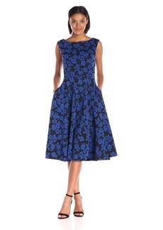 Betsey Johnson Women's Rose Knit Jacquard Dress