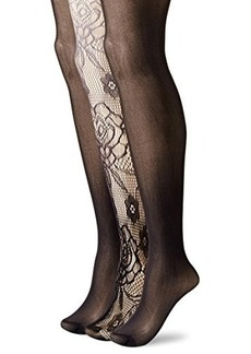 Betsey Johnson Women's Rose Ombre Tights 3-Pack  Medium/Large