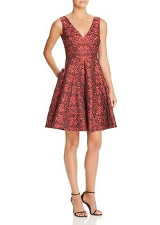Betsey Johnson Women's Rost Jacuqard Fit & Flare Dress