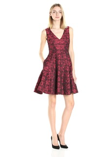 Betsey Johnson Women's Rost Jacuqard Fit and Flare Dress