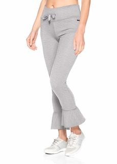 Betsey Johnson Women's Ruffle Hem Terry Pant  Extra Small