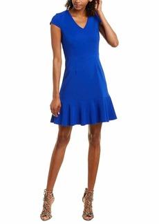 Betsey Johnson Women's Ruffled Hem V Neck Dress