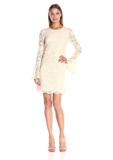 Betsey Johnson Women's Scalloped Lace Dress
