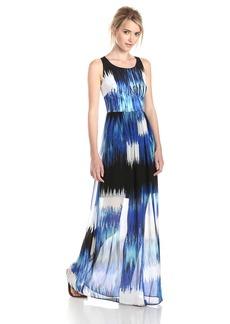 Betsey Johnson Women's Scoop Neck Maxi Dress